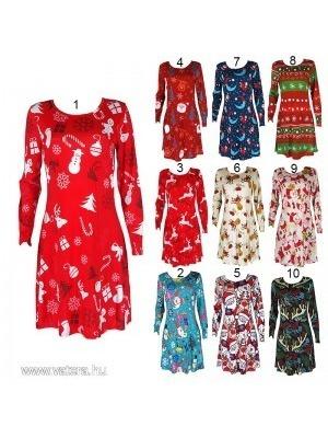 1x Női Party Karácsonyi alkalmi hosszú ujjú ruha felső egy méretben     lejárt 218686 588f37d411