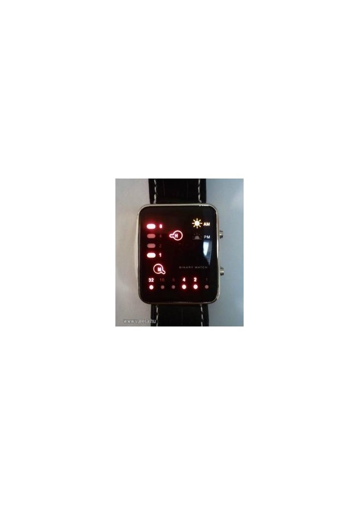 Különlegen bináris LED karóra fekete  1218 - Vatera 30661be175