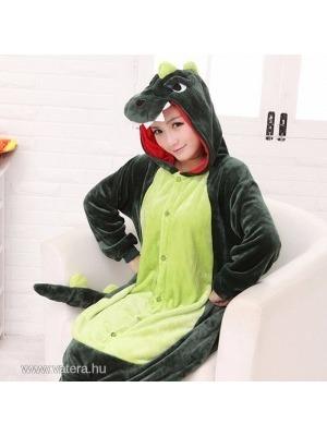 Zöld Dínó Dinoszaurusz Overál Jelmez Pizsama Egybepizsama Felnőtteknek     lejárt 325802 6310640600
