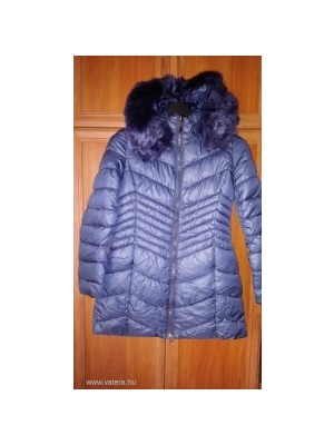 Warp Zone sötétkék hosszú téli kabát (14)    lejárt 851472 4489e37dd4