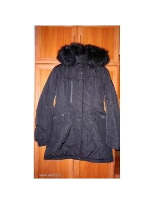 Warp Zone fekete hosszú téli kabát (4)    lejárt 176394 2912fdeba5