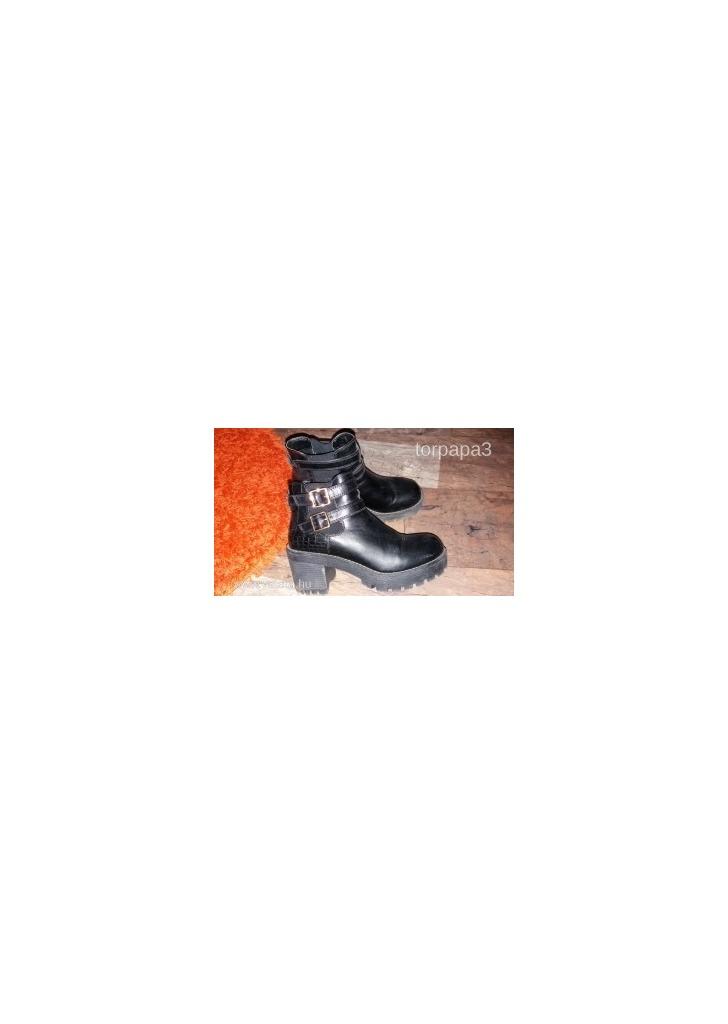 Catwalk magastalpú fekete bakancs 39 magasszárú cipő deichmann - 9e9af51fe2