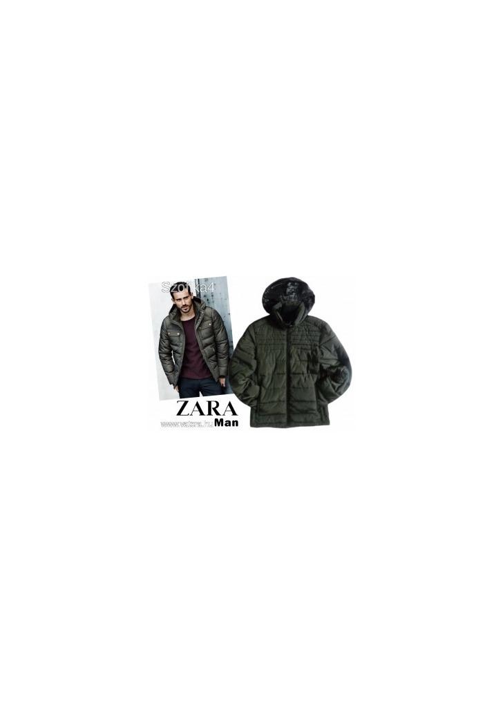 537bd48cb6 ZARA khaki-zöld steppelt férfi dzseki S - Vatera, 2 900 Ft | #218816