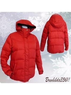 05c516a476 CUBUS, piros kapucnis szuper meleg toll-pehely sportos dzseki, 40-es ,