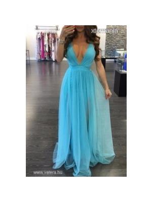 641940bded Álomszép kék tüll hercegnő stílusú lenge maxi ruha vagy koszorúslány ruha  RAKTÁRON! << lejárt