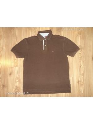 6224da77c4 Tommy Hilfiger férfi barna galléros póló,M-es méretben,KIÁRUSÍTÁS!!! -