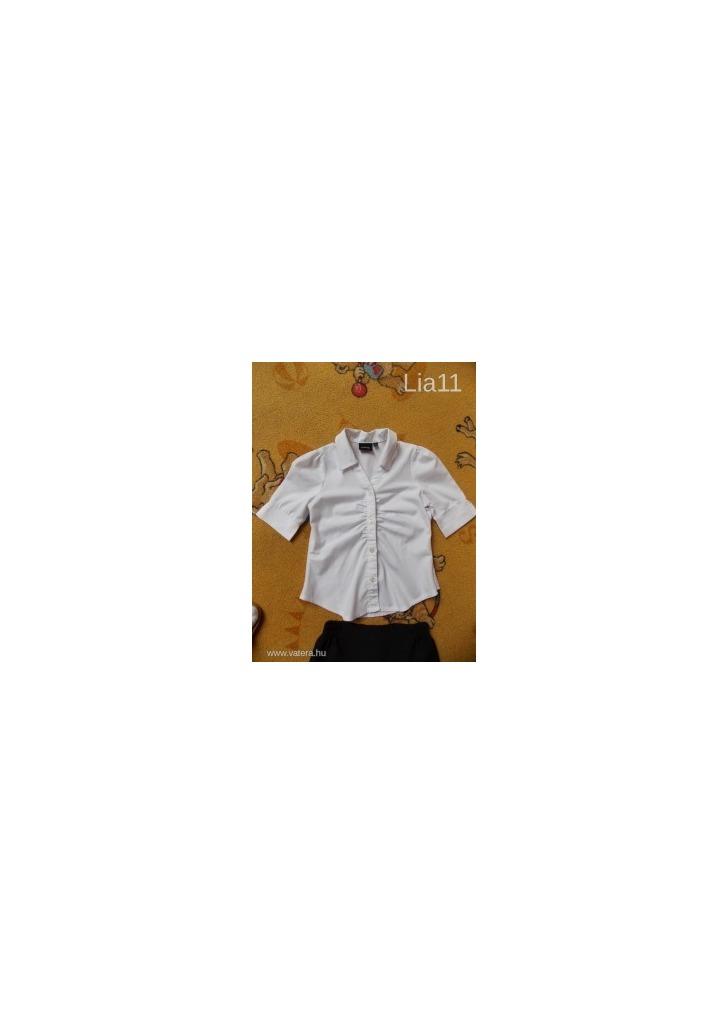 42e443a498 104-es ünneplő ing kislánynak szép fehér pamutvászon - Vatera, 800 Ft