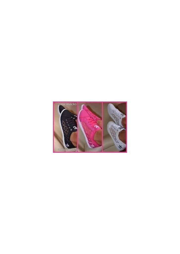 Adidas csipkés cipő fekete 38-as Új NMÁ - Vatera 9ac180b53e