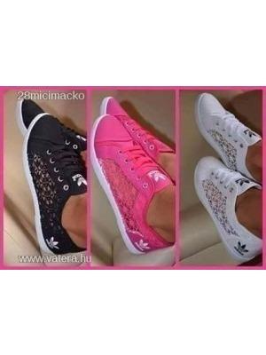 Adidas csipkés cipő fekete 38-as Új NMÁ    lejárt 423588 24d3d22576