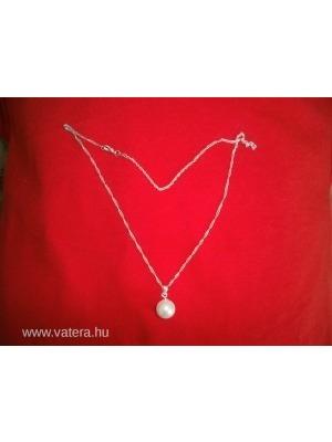 925-ös ezüst jelzésű nyaklánc gyöngy medállal    lejárt 993296 9abeec884c