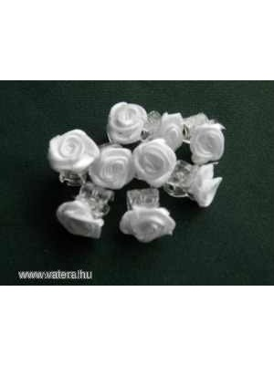 a1ede4d0e3 Esküvői alkalmi szatén rózsa pici hajcsat FEHÉR - Vatera, 80 Ft