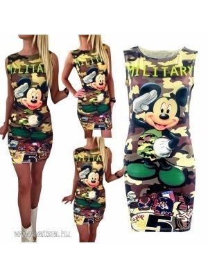 7acdda5f01 Military/Terepmintás Disney Mickey Nyári Női Mini Ruha, több méretben <<  lejárt 636436