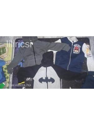3 db fiú 122-128-as H M téli kapucnis zippes pulcsi Batman 6892802b7a