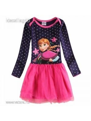 Jégvarázs Frozen Anna szívecskés hosszú ujjú ruha 0c55f1d647