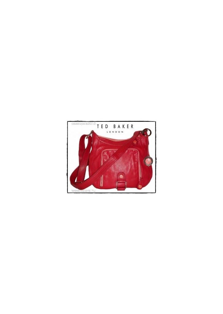 73d208276e Újszerű, exkluzív TED BAKER valódi bőr piros táska - 1 Ft-ról -