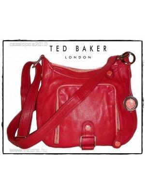 2228d21d7e Újszerű, exkluzív TED BAKER valódi bőr piros táska - 1 Ft-ról <<
