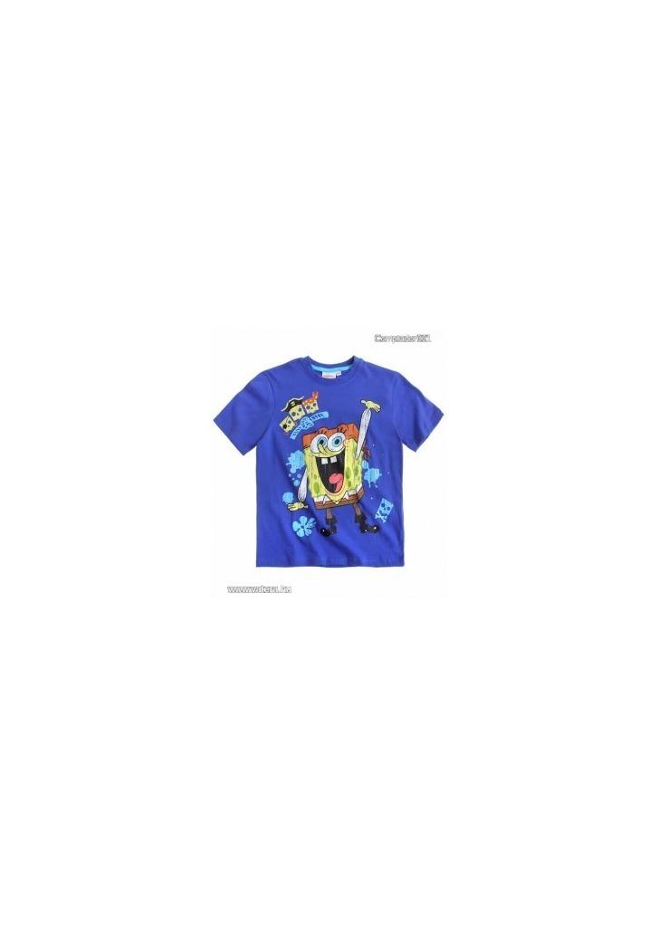 bd2b32eb7d Spongyabob póló kék színben (116,128) - Vatera, 2 590 Ft | #178199