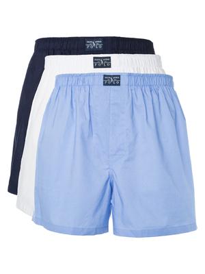 9f50d14a50 Ralph Lauren 3 db-os Bő szárú boxeralsó szett XL, Fekete Kék Fehér <