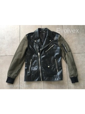 ac117f1911 Zara MAN biker dzseki fekete és khaki színben L-es. 1 FT NMÁ - Vatera,