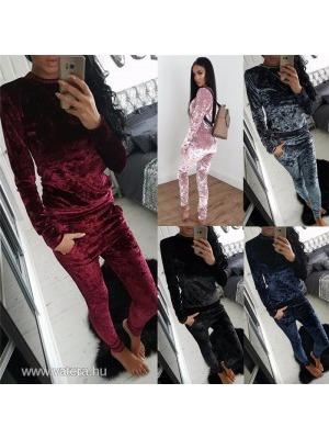 1ec7af03f102 Női divatos bársony melegítő együttes szett ; felső + pulóver szett S M L  XL <
