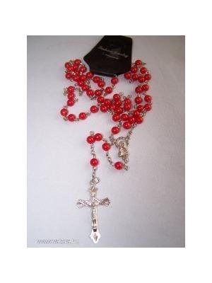 e1a6a6917 piros gyöngy rózsafüzér nyaklánc Azonnal - Vatera, 850 Ft | #234503