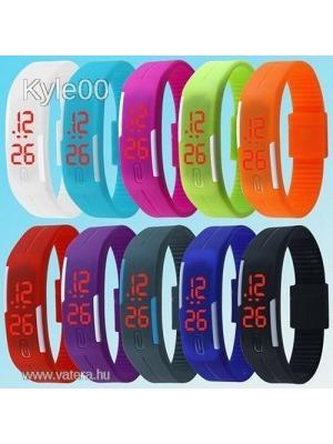 Szilikon LED 11 féle szín Sport Fitnesz karkötő karóra óra női férfi Uniszex     lejárt 0fd6ec0bd9
