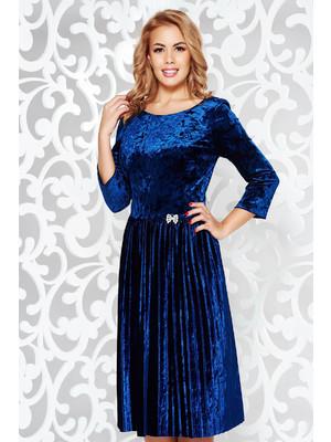 c63a24344d Kék alkalmi bársony harang ruha bross kiegészítővel strassz köves  kiegészítő rakott << lejárt 423479