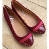 1 FT NMÁ Utolsó 39 es Szép új sötetpiros-bordó szinű divatos Balerina Női  Cipő a11313e8df