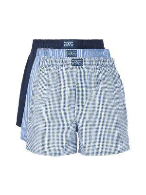 446018378d Polo Ralph Lauren 3 db-os Bő szárú boxeralsó szett Fekete Kék << lejárt