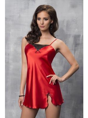 Tara Red luxus szatén hálóing - astratex.hu 5daeca965a