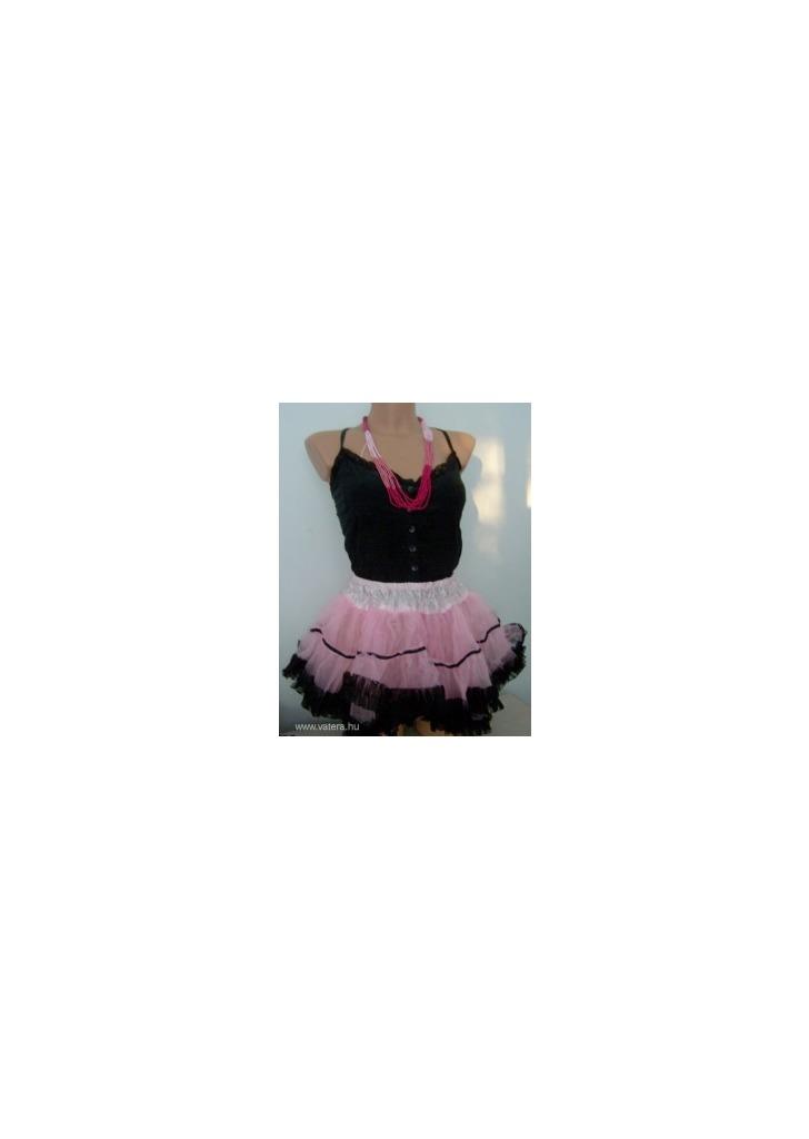 7f34eec27e Tütü tüll szoknya balett szoknya extra fodros rózsaszín-fekete