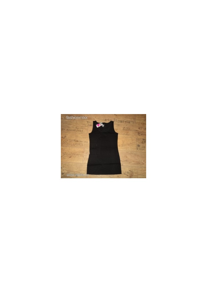 Pamut ideal trikó címkés fekete hosszított - Vatera b17e80bd85