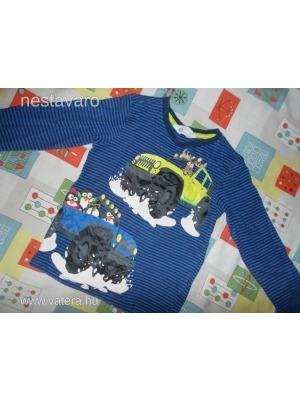 c95db3ddbc H&M csíkos, nagy autós hosszú ujjú felső, póló - 3-4 év - Vatera,