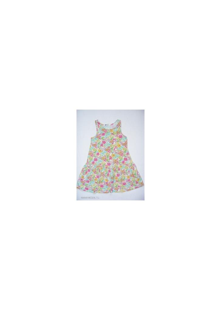 8619f33031 H&M lenge zöldes virágos ujjatlan nyári ruha 110-116 - Vatera, 550