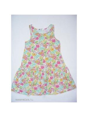 fcbe7d2a5c H&M lenge zöldes virágos ujjatlan nyári ruha 110-116 << lejárt 805787
