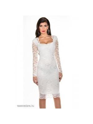 b8aba06f50 Csipke alkalmi ruha elegáns női ruha esküvőre fehér S << lejárt 325283