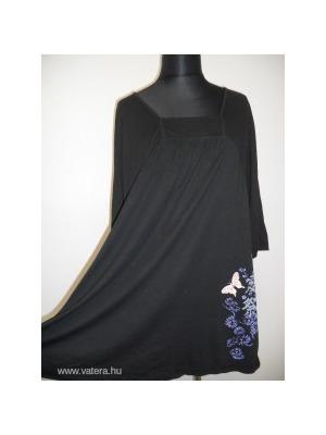 e32e0f1493 Nagyon csinos ULLA POPKEN fekete pillangós MOLETTI felső, tunika EU 52-54,  UK