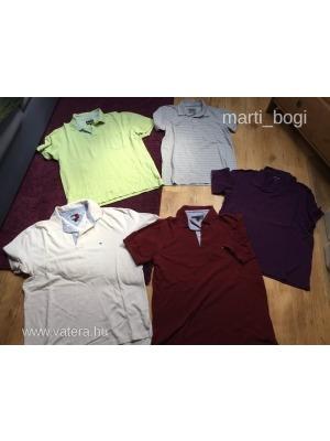0a96686bf3 5 db galléros póló Tommy Hilfiger, Zara, C&A szépek L-XL méret <