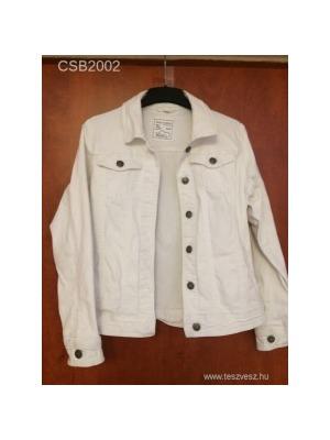 Fehér női farmerdzseki 40 42-es újszerű    lejárt 385271 aa823036a7