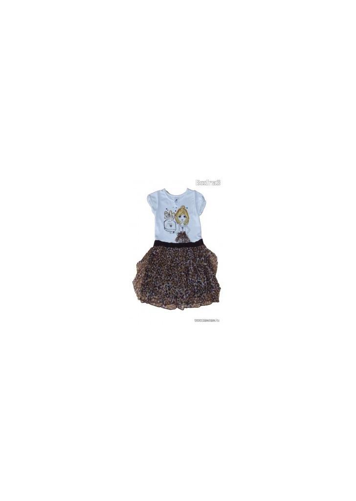 9aeb13f57e Meseszép kislány mintás tüll szoknyás ruha 110-es méretben (5 év) -