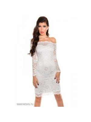 4ec0524c20 Alkalmi ruha esküvőre csipkés, elegáns női ruha fehér XS << lejárt 77056