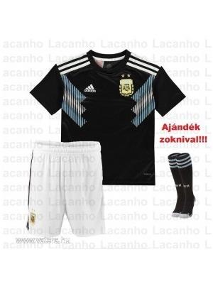 Új Argentína Argentín Vendég Gyerek Mez+Nadrág+Zokni Szett 2018 2019 18  5c4fe817f3