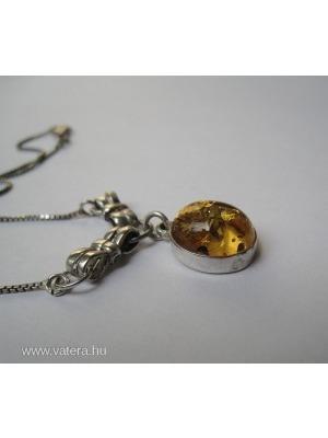 e13ede1ad Borostyán köves ezüst nyaklánc - ajándéknak is! --- 1 Ft! --- -