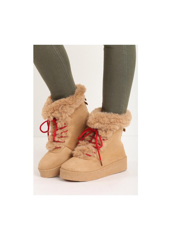 Joella camel női platform cipő - Zapatos 17d9ef6d0c