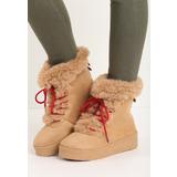 be825f24ab Joella camel női platform cipő