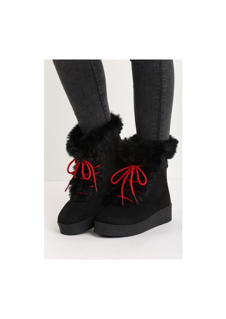 Joella black női platform cipő - Zapatos d8ee067f78