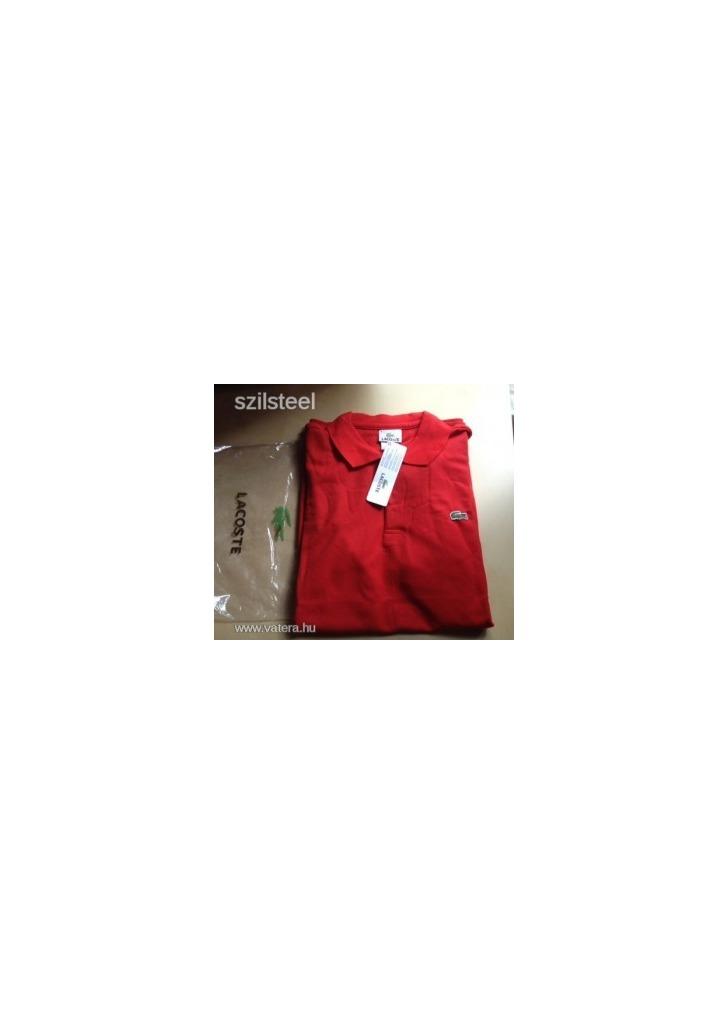 14e0a2a682 AAA Piros LACOSTE férfi galléros póló L-es méretben - ÚJ!!! Készleten
