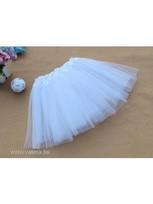 fbafa6ecc5 Gyerek bakfis tüll szoknya tütü balettszoknya fehér - Vatera, 990 Ft