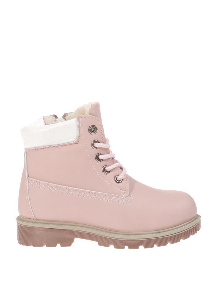 Rózsaszín bélelt bakancs