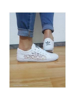 Adidas csipkés cipő fehér 38-s Új NMÁ    lejárt 43550 b3aca8a6c3